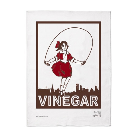 Iconic Melbourne: Skipping girl vinegar tea towel, by Make Me Iconic $27