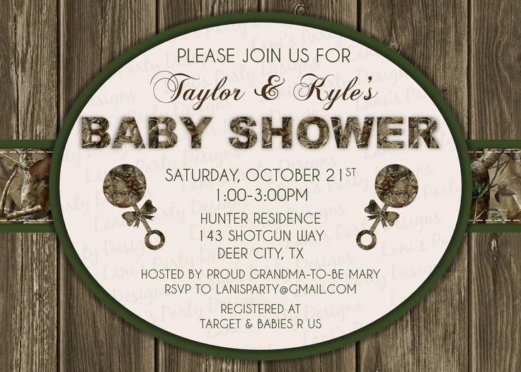 camouflage baby shower invitations boy google search