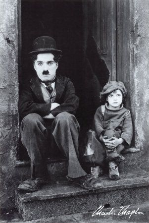 CHARLIE CHAPLIN JACKIE COOGAN 1920s    CHARLIE CHAPLIN 1889-1977 JACKIE COOGAN 1914-1984  Shoulder Arms (1918), The Pilgrim (1923), and the feature-length classic The Kid (1921).  All Chaplin's United Artists pictures were of feature length, beginning with A Woman of Paris (1923). This was followed by the classic The Gold Rush (1925), and The Circus (1928).  As a child actor, Jackie Coogan is best remembered for his role as Charlie Chaplin's irascible sidekick in the film classic The Kid…