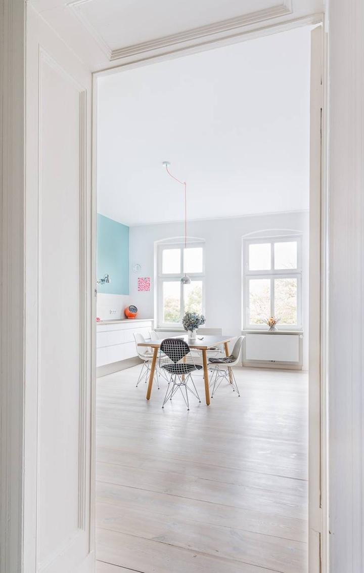 White kitchen Love the light wood floor