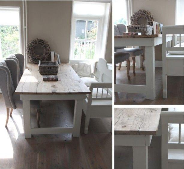 Mooie eettafel en prachtige sfeer eettafel pinterest stoelen foto 39 s en houten tafels - Eettafel en houten eetkamer ...