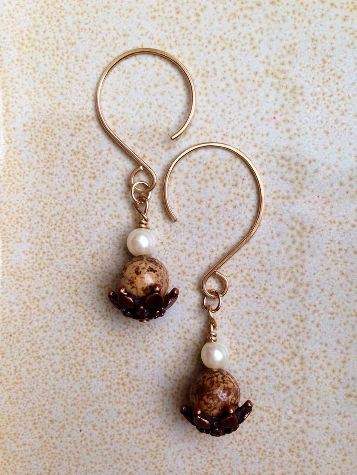 A personal favorite from my Etsy shop https://www.etsy.com/listing/287258745/autumn-jewelry-pearl-earrings-june