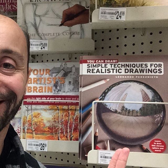 My book has arrived to Barnes & Noble and Michael's!!! :) #barnesandnoble #michaels #artbooks #finearttips