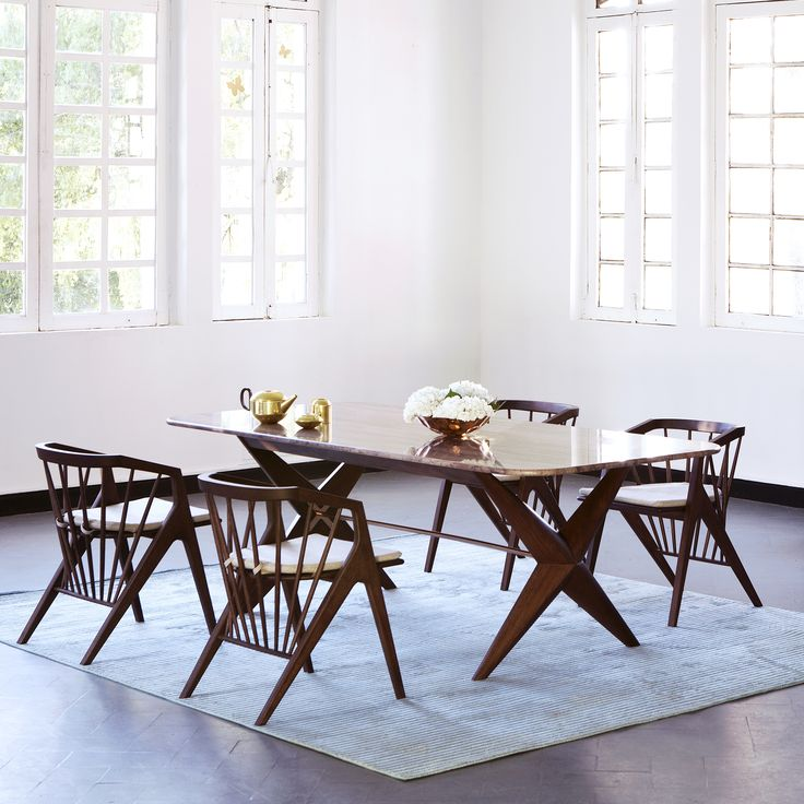 CONTEMPORARY DINING ROOM Victoria Dining Set Zientte Houston #ZientteVictoriaCollection