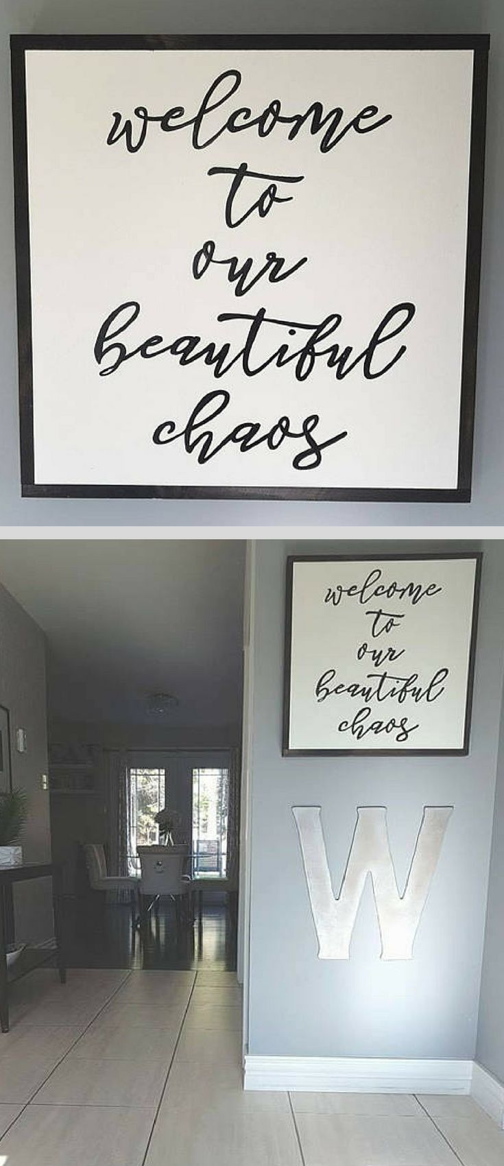 Perfect entryway sign for anyone with young and wild kids! Welcome to our beautiful chaos wood sign, home decor, rustic wall decor, farmhouse decor, living room sign #ad #kidsroom