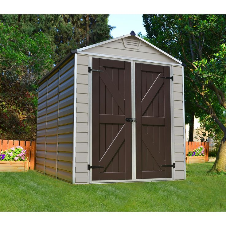 Palram Skylight Tan 6x8 Shed (Skylight Shed 6' x 8' Tan) (Aluminum) #703389