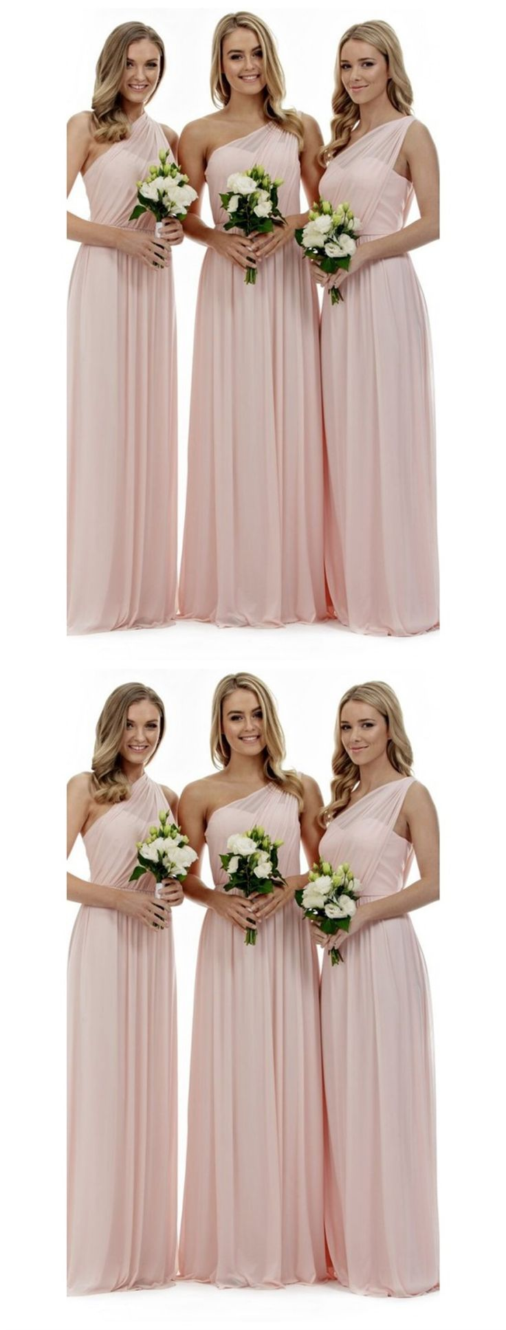 Best 25 one shoulder hair ideas on pinterest cute hairstyles blush pink bridesmaid dresses one shoulder bridesmaid dresses long bridesmaid dresses chiffon bridesmaid ombrellifo Images
