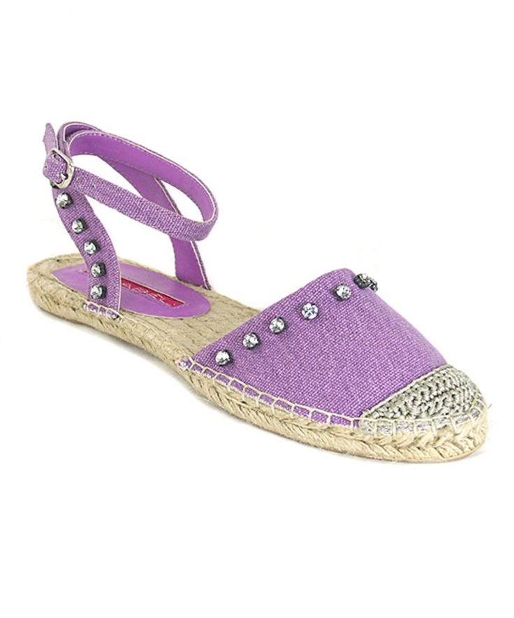 Take a look at this Purple Adler Rhinestone Espadrille Sandal today!