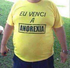 Imagem e Frases Facebook: As mais Engraçadas Aqui.: Eu Venci a Anorexia - Camisas Divertidas