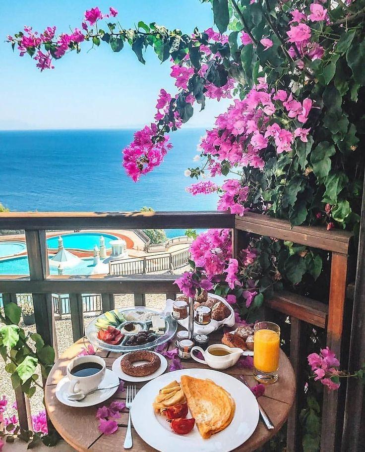 красивый завтрак у моря картинки этого