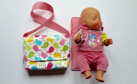 CHOOSE FABRICS Dolly Changing Bag // Mini changing bag by SewSofia