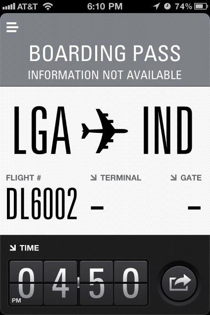 Flight Card #ui #sweetfont