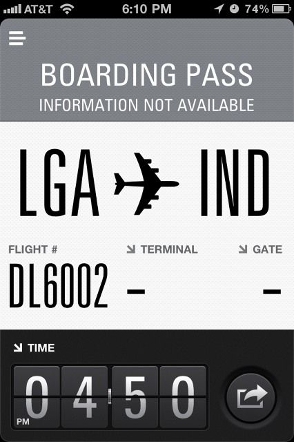 Flight Card #ui #sweetfont