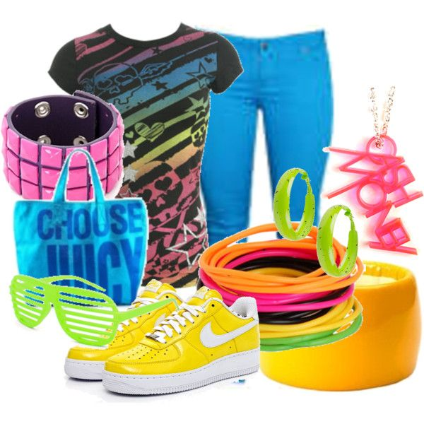 neon party outfit