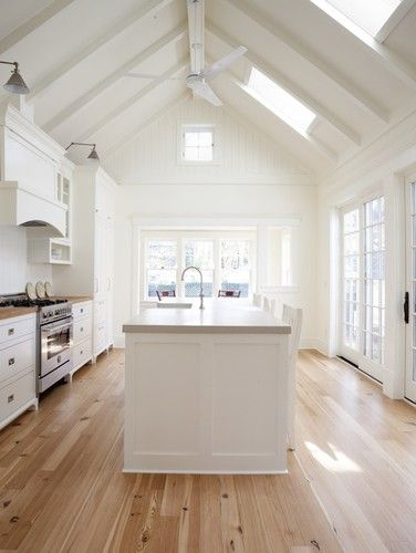 New England Farmhouse Kitchen contemporary kitchen. Floors, ceiling