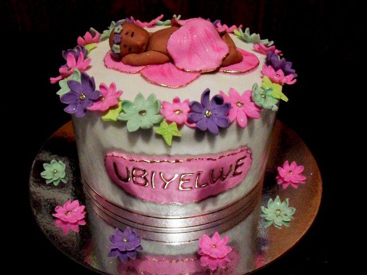 Baby Shower Cake for a Girls