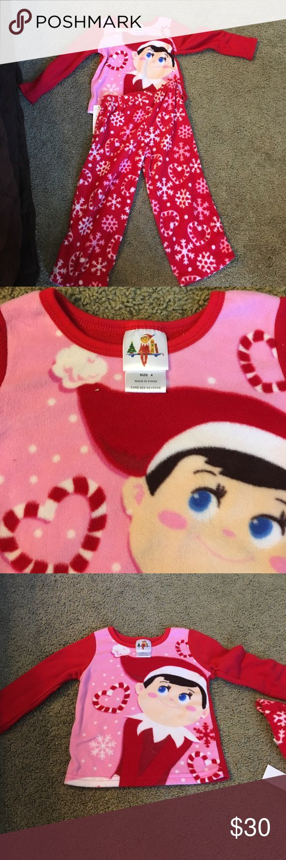 Elf on shelf set Brand nwot , never worn! Size 4 KIDS- true to size, comes from a smoke and pet free environment :) There are no flaws, tears, or marks. I am open offers! Additional pictures upon request. ELF Pajamas Pajama Sets