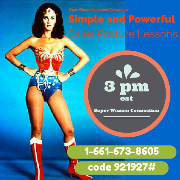 Ladies, what do you think about Sales Posture?  Today on the Super Women Connection Daily Teleseminar join Alecia Stringer who will share simple and POWerful sales skills, in just a few hours. I will be waiting for the replay as I am en route to Toronto while the call goes live at 3pm EST.  I am excited for the call!!