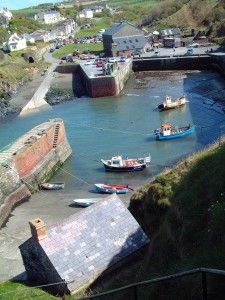 The village of Porthgain on the Pembrokeshire Coast, Wales