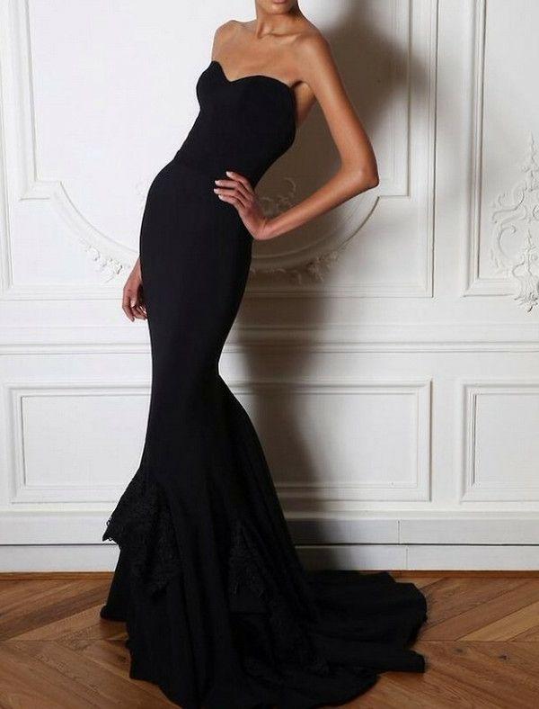 Jolie longue robe de soirée noire