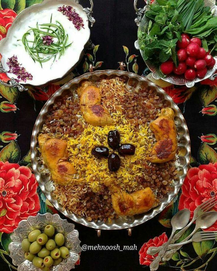 Persian style lunch Adas polo