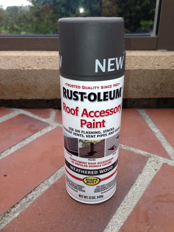 rust oleum just introduced a roof accessory paint called weathered. Black Bedroom Furniture Sets. Home Design Ideas