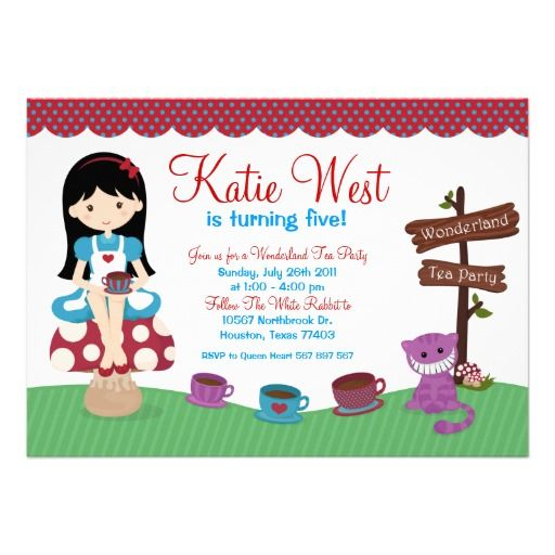 75 best images about Kids Party Invitations – Kids Tea Party Invitations