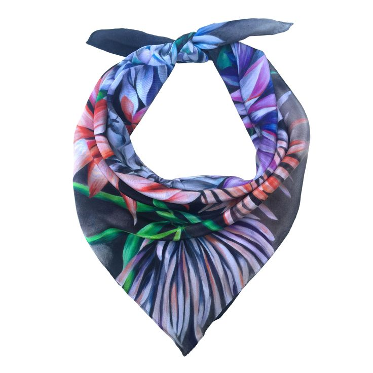 Shop the 'Ruben' Luxury Silk Small Scarf online. All Leanne Claxton scarves are taken from a series of oil painted canvases by the artist, which are digitally transformed and printed onto 100% silk. View our Winter 2016 Digital collection, available in a range of colours, styles and sizes, at www.leanneclaxton.com
