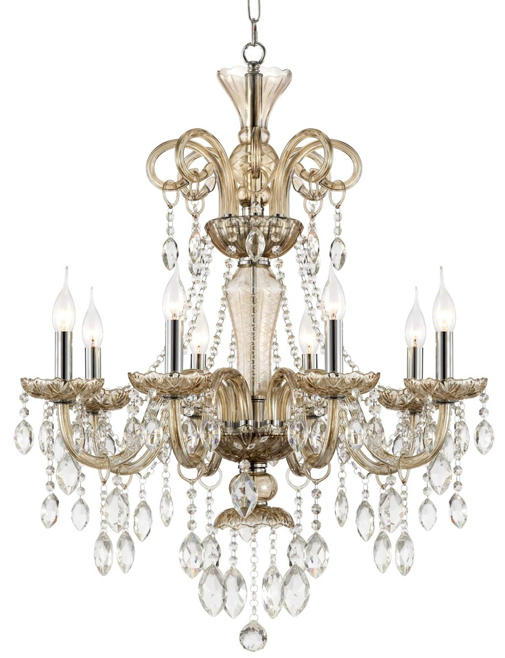 Traditional 28 wide 8 light crystal chandelier lighting pinterest - Traditional crystal chandeliers ...
