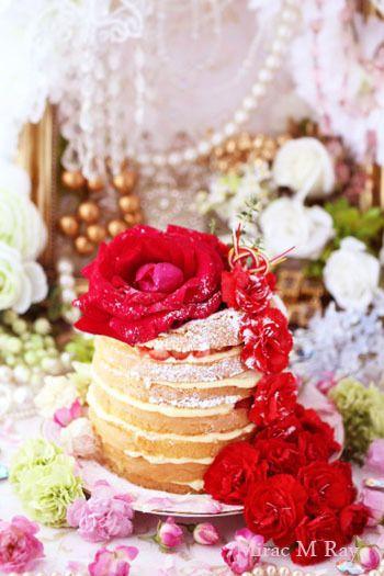 Strawberry & Custard Cream Naked Layer Cake ストロベリー&カスタードクリームネイキッドレイヤーケーキ