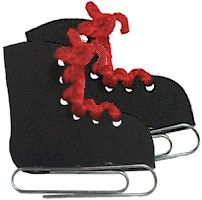 Simple and cute! remove the paperclip and it's Hiking Boots! http://www.makingfriends.com/world/pin_skates.htm