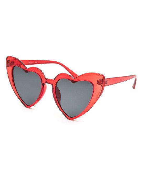 e11c1de715bb FULL TILT Heart Cat Eye Red Sunglasses | Beachy Keen | Red ...