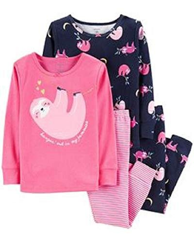 Carter s 4-Piece Glitter Sloth Snug Fit Cotton PJs 97d8bb6db