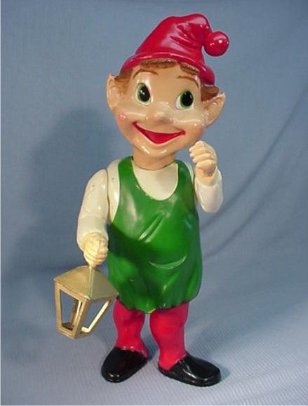 Christmas Blow Molds >> Vintage Christmas Blow Mold ~ Elf w/ Lantern by Union ...