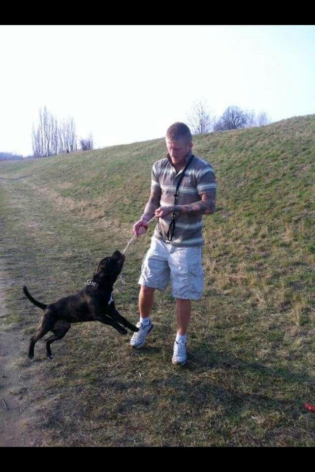 Patrick og hans hund zeus