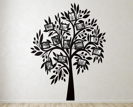 Personalize your space with a family tree full of photos