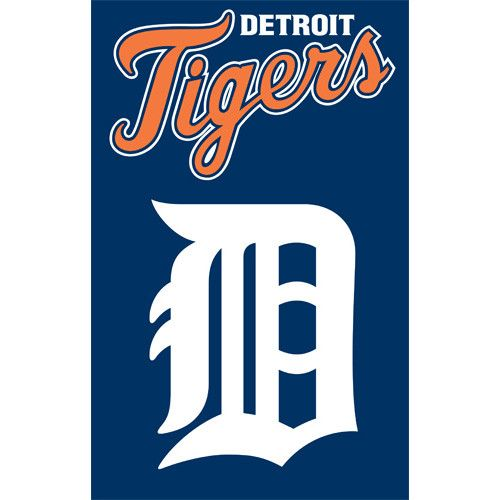 Detriot Tigers Double Sided House Flag