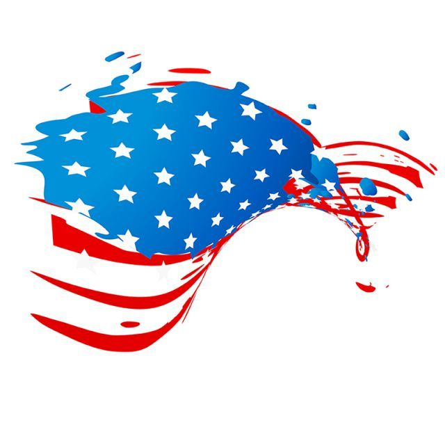 Flag American Vector Us America Usa National July Campaign Red Day Unique Holiday Symbol Democratic Star Celebra Holiday Symbols Creative Illustration Creative