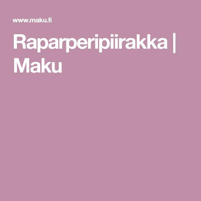 Raparperipiirakka   Maku