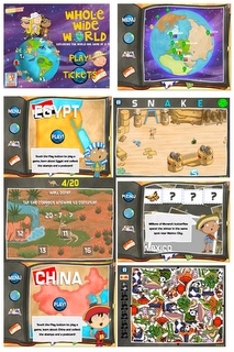 This is an app for early elementary grades and allows students to travel around the world. I would use this app for choice time and when I am teaching about a specific culture or place.