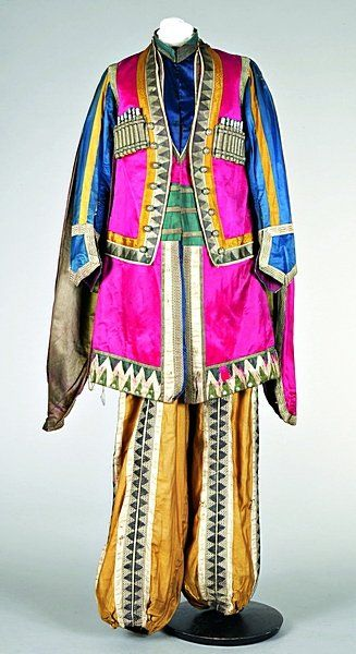 Diaghilev's Ballet Russes - `Thamar' a Lezghin outfit designed by Leon Bakst, first performed 1912