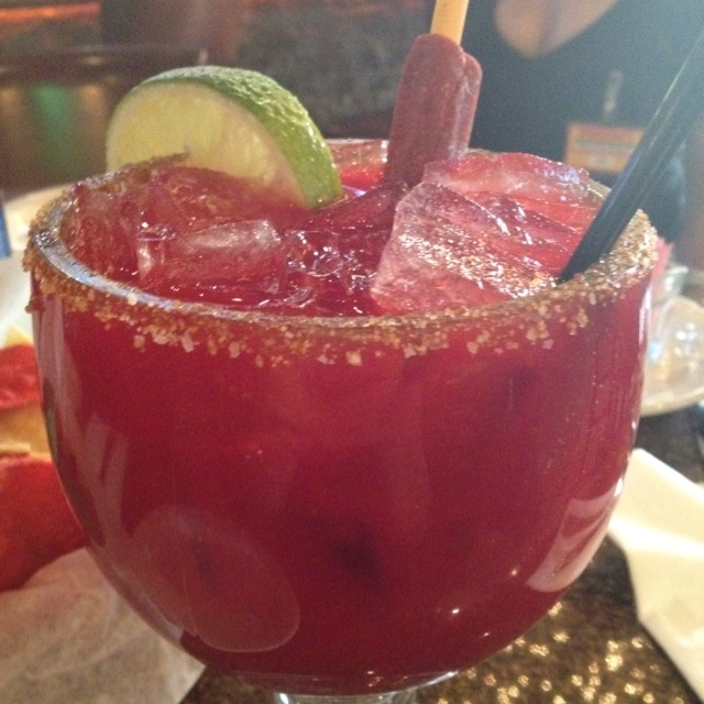 Chamoy Margarita!  So delicious.