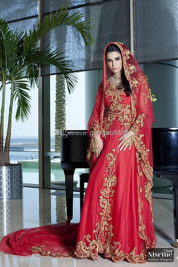 Wholesale a line wedding dresses buy 2014 new long for Long sleeve indian wedding dresses