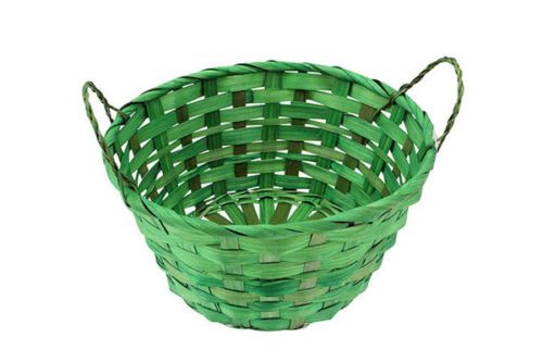 12 easter #bamboo #basket #round with  2 handles blend 20x10cm bulk wholesale lot,  View more on the LINK: http://www.zeppy.io/product/gb/2/141905920558/