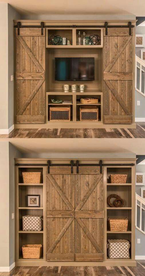I want a closet like this because i do not like walk in closets. Hanging space on top, drawers on the bottom.