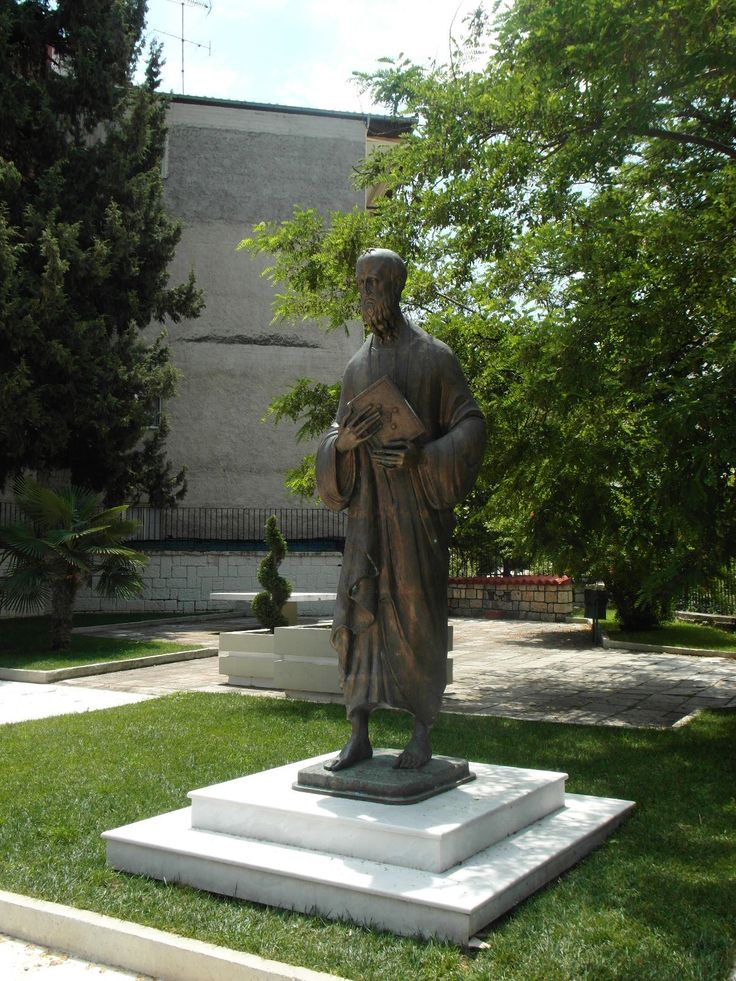 Statue of Paul the Apostle in Veria Macedonia in northern Greece