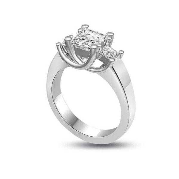 ANELLO TRILOGY CON DIAMANTI 18CT ORO BIANCO | Anello Trilogy con Diamanti Taglio Princess. Il totale dei carati per questo anello e` disponibile da 0.30ct a 1.0ct. Il peso dei carati per il diamante centrale varia da 0.14ct a 0.40ct e i laterali variano da 0.16ct a 0.60ct. Tutti gli anelli sono montati a griffe. Tutti i diamanti sono disponibili in H, G ed F colore e in VS1 ed SI1 purezza. L`anello e` accompagnato dal certificato del diamante.