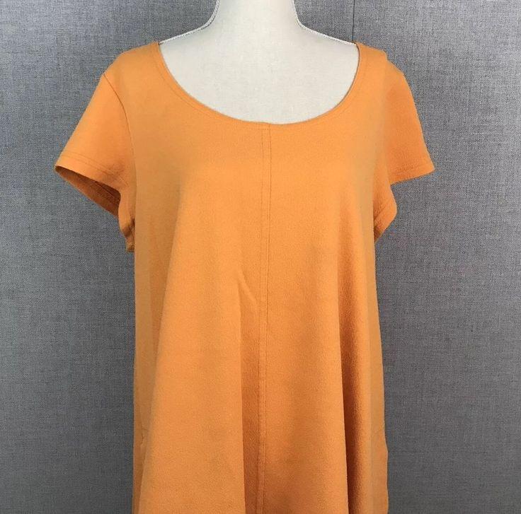 Vintage Women's Dress A Line Collette By Miss Elaine Orange Pockets Casual M L #MissElaine #ALine
