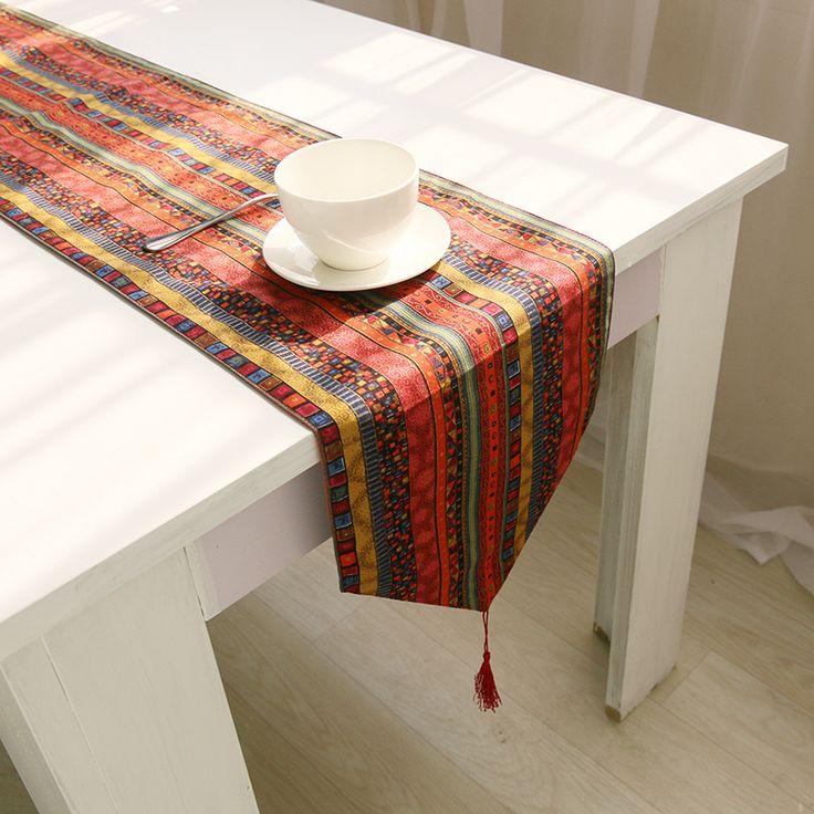 folk custom tablecloth Burlap table runner wedding Runner on the table Printed table runners home decor Modern table runner
