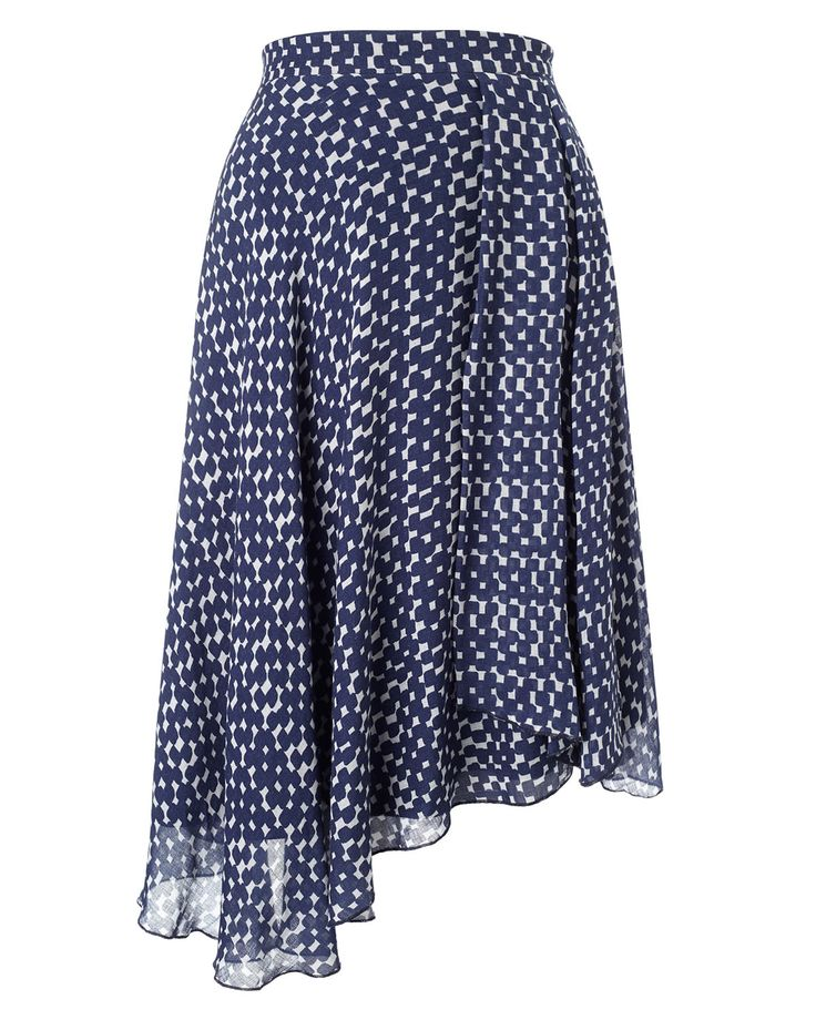 PHASE EIGHT Quin Printed Asymmetric Skirt. Pinned by Amy of www.amysshop.co.uk on High Street Tango Finds.